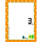 Sight Words-play dough stamp mats (Spanish)