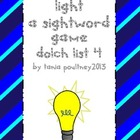 Sight word game Turn on the Light list 4