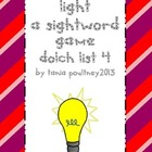 Sight word game Turn on the Light list 5