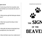 Sign of the Beaver Comprehension Booklet