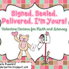 Signed. Sealed. Delivered. I'm yours! Valentine Centers fo