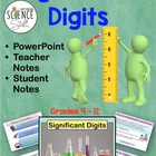 Significant Digits (Figures) Powerpoint Presentation with Notes