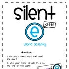 Silent E Word Activity