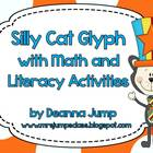 Silly Cat Glyph with Math and Literacy Activities