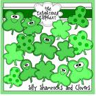 Silly Shamrocks and Clovers Clip Art