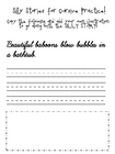Silly Stories for Cursive Practice - B