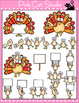 Thanksgiving Clip Art - Turkeys - Personal or Commercial Use