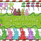 Silly World Holiday: Christmas/winter Trees Clip Art Collection