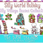(Silly World Holiday) Winter Houses Clip Art Collection