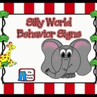 Silly World Themed Behavior Management Signs