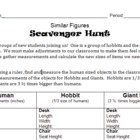 Similar Figures Scavenger Hunt - Measurements, Proportions