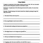 Simile Practice Worksheet, Using Similes, Descriptive Writing