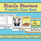 Simile Starters Printable Class Book