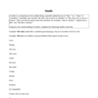 Simile Worksheet - How to Create Your Own