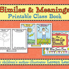 Similes &amp; Meanings Printable Class Book