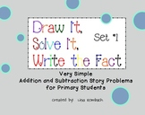 Simple Addition & Subtraction Story Problems for Smartboard Set 1