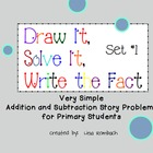 Simple Addition &amp; Subtraction Story Problems for Smartboard Set 1