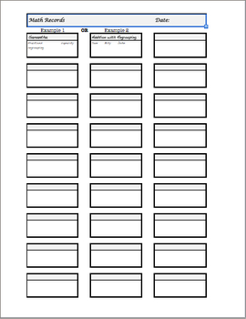 Simple Anecdotal Notes Templates (Behavior, Writing, & Math)