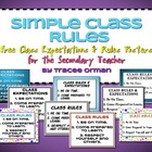 Simple Class Rules for the Secondary Teacher