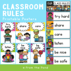 Simple Classroom Rules - Make Your Own Poster or Chart Display