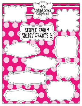 Simple Curly Swirly Frames 3 {Black and White}