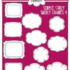 Simple Curly Swirly Frames 4 {Black and White}
