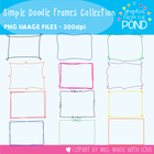 Simple Doodle Border Collection  - 192 Frames/Borders