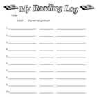 Simple Elementary Reading Log