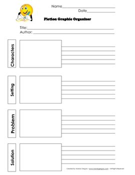 Simple Fiction Retelling/ Writing  Graphic Organizer
