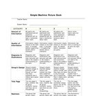 Simple Machines Picture Book Rubric