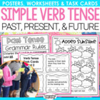 Simple Past, Present and Future Tenses Activity Pack