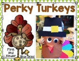 Simple Perky Turkey Simple Glyph Art