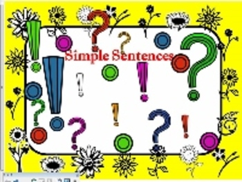 Simple Sentences-SmartBoard
