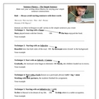 Simple Sentences and Sentence Fluency