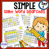 Simple Sight Word Searches Dolch Lists 1-5
