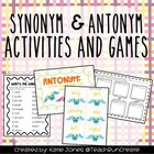 Simple Synonyms and Awesome Antonyms (including games and