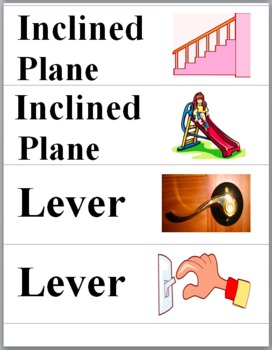 Simple Machines and Compound Machines Word Wall Cards