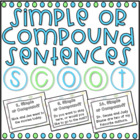 Simple or Compound? Sentences SCOOT! (task cards/review game)