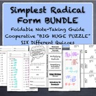 "Simplest Radical Form ""Bundle"" - Simplify Square Roots Activities"