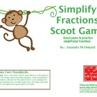 Simplify Fractions Scoot Game (Common Core)