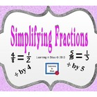 Simplifying Fractions to Simplest Form.