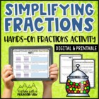 Simplifying and Reducing Fractions Activity M&Ms! (Simplest Form)