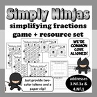 Simply Ninjas – equivalent fractions, simplifying fraction