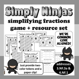 Simply Ninjas –equivalent fractions, simplifying fraction