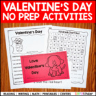 Simply Valentines - Kindergarten Literacy Activities