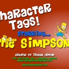 Simpsons Character &quot;Tags&quot; Creative Novel/Lit Activity