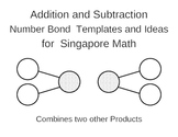 Singapore Math - Number Bond Addition/Subtraction Template