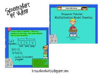 Singapore Math Video Tutorial: Multiplication Model Drawing
