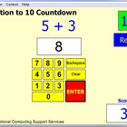 Single Digit Addition to 10 Countdown Game