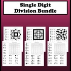 Single Digit Division Color Worksheet Package